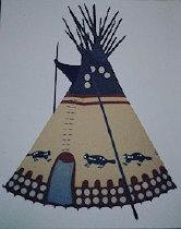 Image of BEAVER TIPI OF CECILE AND RUBEN BLACK BOY, PIEGAN