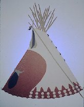 Image of BIG ROCK TIPI OF MINNIE AIMS BACK AND AIMS BACK, PIEGAN