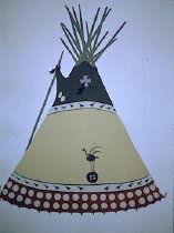 Image of CURLEW TIPI OF RIDER WIDOW AND MARK WOLF CHILD, BLOOD