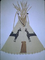 Image of DONKEY TIPI OF MARY RIDES AT THE DOOR AND RIDES AT THE DOOR, PIE