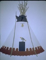 Image of EAGLE TIPI OF MR. AND MRS. CHARLES WOLF ROBE, BLOOD