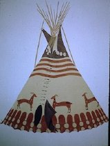 Image of MOUNTAIN SHEEP TIPI OF FRANK RED CROW, BLOOD