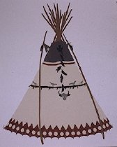 Image of PRAIRIE CHICKEN TIPI OF JOSEPHINE TURTLE AND TURTLE, PIEGAN