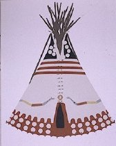 Image of SNAKE TIPI OF NELLIE AND WILLIE SCRAPING WHITE, BLOOD