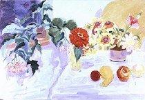 Image of Begonia, Zinnia, Gazinias, Dahlia & Fruit