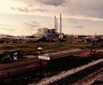 Image of #C-160-7 BURLINGTON NORTHERN SWITCHING YARD AND POWER PLANT