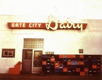 Image of GATE CITY DAIRY, GLENDIVE, NEON PRODUCTS, FRED OAKLAND 1947 (from