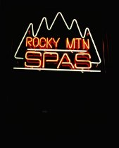 Image of ROCKY MOUNTAIN SPAS, HELENA, CITY SIGN, TERRY MORRISON, 1985 (fro