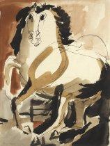 Image of untitled   (orange/black horse)