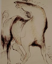 Image of untitled    (black/ochre horse)
