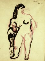 Image of DRAWING OF FEMALE NUDE