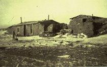 Image of THE OLD LU (LU BAR) COW CAMP, NORTH MONTANA 1884