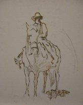 Image of untitled (man on horsebac)