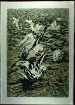 Image of GULLS ON LAKE YELLOWSTONE