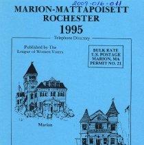 Image of 2009.016.011 - Marion - Mattapoisett  Rochester 1995 Telephone DIrectory