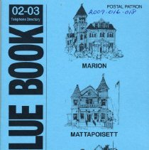 Image of 2009.016.018 - The Blue Book02-03 Telephone DIrectory