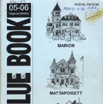 Image of 2009.016.021 - The Blue Book 05-06 Telephone DIrectory