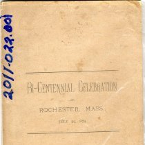 Image of 2011.022.001 - Bi-Centennial Celebration of Rochester, Mass. July 22, 1879