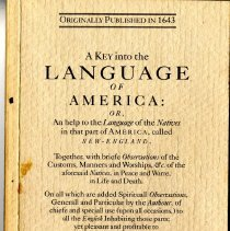 Image of 2015.008.001 - A Key into the Language of America