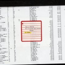 Image of L2013.001.551 - Town of Marion FY12 Proposed Real Estate Values By Owner