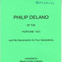 """Image of REF528.001 - Philip Delano of the """"Fortune"""" 1621 and His Descendants for Four Generations"""
