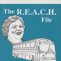 "Image of BX4705 .L422 L4 1990 - Book: ""The R.E.A.C.H. File: A Woman, a Program, and a Fantastic Trip Across America"" by Dolores Lebbert, published by the Pearl Street Press: Topeka, Kansas.  About a woman's experiences with the ""R.E.A.C.H."" program in a quasi-fictitious sort of format."