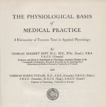 """Image of QP34.B54 1939a - Book: """"Physiological Basis of Medical Practice"""" Webb Trading Co.        Contains sections on the blood and lymph, circulation of the blood, excretion of urine, ductless glands or endocrines, and special senses.     Published by Williams & Wilkins Company in Baltimore"""