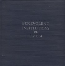 "Image of HA201 .B4 1905 - Report: ""Benevolent Institutions 1904"" Department of Commerce and Labor Bureau of Census.