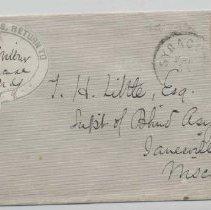Image of Dr. H. B. Wilbur Envelope