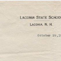 Image of Laconia State School Letterhea