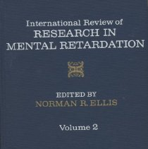 "Image of RC570 .I5 - Book: ""International Review of Research In Mental Retardation Vol. 2"" edited by Norman Ellis, published by Academic Press: New York-London."