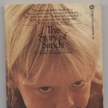 """Image of RJ499 .W44 1970 - Book: """"The Story of Sandy"""" by Susan Stanhope Wexler, published by Signet Book: New American Library.  A story of a boy and his family.  Was first published in 1955."""