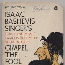 """Image of PZ3.S61657 Gi - Book: """"Gimpel The Fool"""" by Isaac Bashevis Singer.  First published in 1953, in Yiddish.  A collection of fictitious stories."""