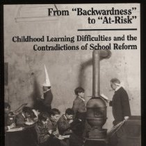 """Image of LC4705 .F73 1994 - Book: """"From 'Backwardness'  to 'At-Risk' Childhood Learning Difficulties and the Contradictions of School Reform"""" by Barry M. Franklin, published by State University of New York Press: Albany, 1994."""
