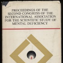 Image of RC570 .I49 - Proceedings of the Second Congress of the International Association for the Scientific Study of Mental Deficiency  Warsaw Poland 25th August - 2nd September , 1970 , under the high patronage of Marshal Marian Spychalski, President of the Council of State