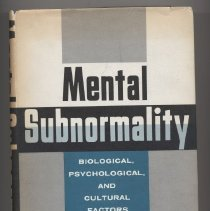 Image of RJ499 .M3 1959 - Mental Subnormality Biological,Psychological and Cultural Factors By Richard L. Masland, Seymour B. Sarason, and Thomas Gladwin