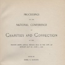 Image of HV88 .A3 1902 - Proceedings of the National Conference of Charities and Correction