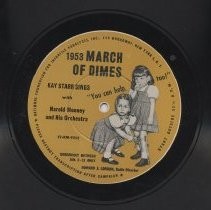 Image of March of Dimes record side 1