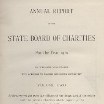 Image of State Board of Charities 1910