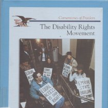 "Image of HV1553 .K45 1996 - Cornerstones of Freedom ""The Disability Rights Movement"" By  Deboah Kent ""One of the last half-centurys most dramatic saga is the struggle for equal rights by Americans with disabilities. People who are blind, hearing impaired. Wheelchair-bound and mentally  handicapped share a common goal-equal treatment in the public and  private sectors of American society,"""