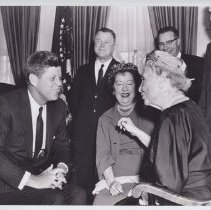 Image of President Kennedy and Helen Ke