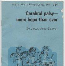 Image of Cerebral Palsy - more hope tha