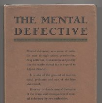 "Image of RC628 .B45 1931 - Book: ""The Mental Defective""