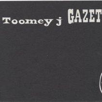Image of Toomey J Gazette