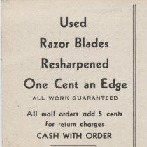 Image of Razor Blade Ad