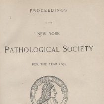 Image of RB1 .N7 1894 - Proceedings Of The New York Pathological Society 
