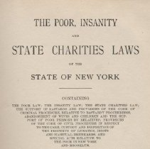 Image of KFN 5084.5 .P6 C86 1904 - The Poor, Insanity and State Charities Laws of the State of New York