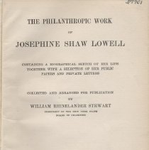 Image of Josephine Shaw Lowell