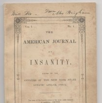 Image of American Journal of Insanity