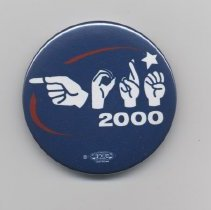 Image of 2007.90.4 - Button, Political
